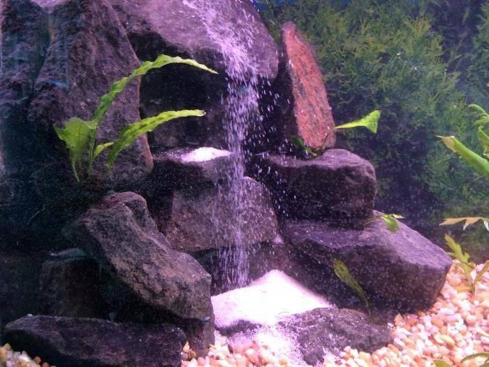 Пескопад в аквариуме